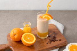 旬の柑橘を味わおう!オレンジフレーバーラテ