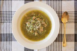 小松菜ジュースの搾りかすで作るグリーンスープ