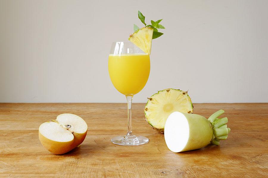 大根×パイナップ&梨ジュース