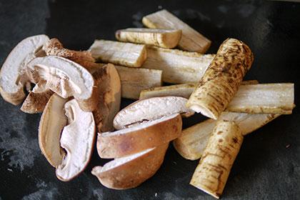 ごぼうと椎茸のポタージュスープ 工程1
