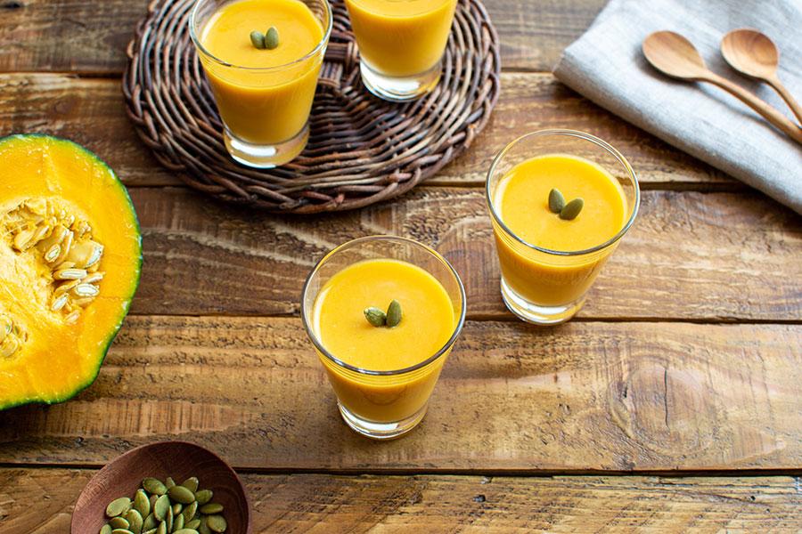 かぼちゃの豆乳ムース。秋のパーティーやおもてなしの前菜に♪