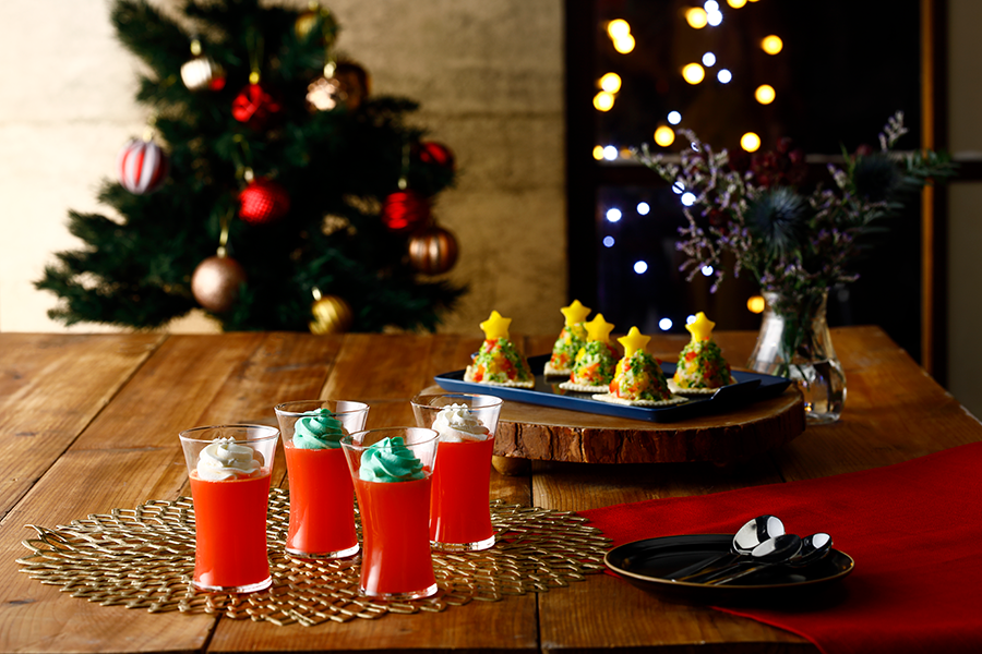 マッシュポテトツリー&クリスマスゼリー