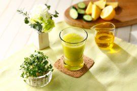 パイナップル・きゅうり・レモンジュース