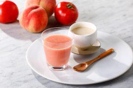 トマト・桃・甘酒のジュース