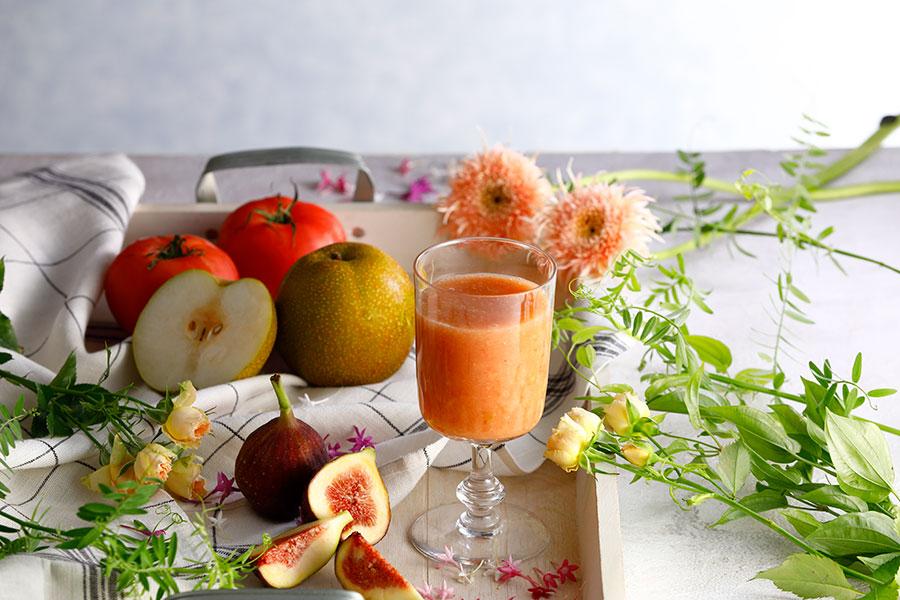 いちじく・トマト・梨ジュース