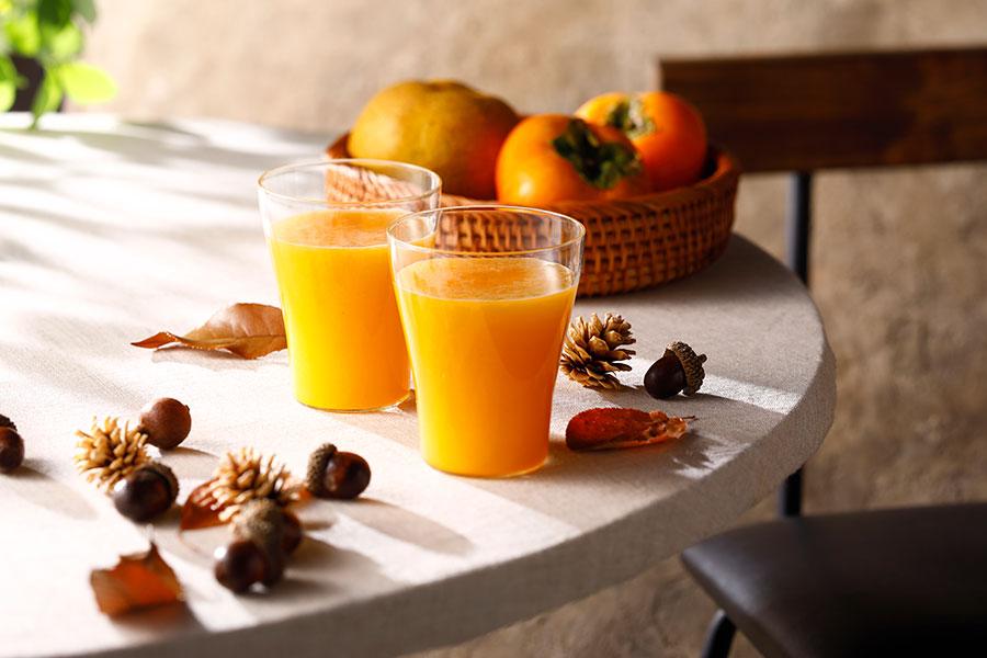 柿と梨のジュース