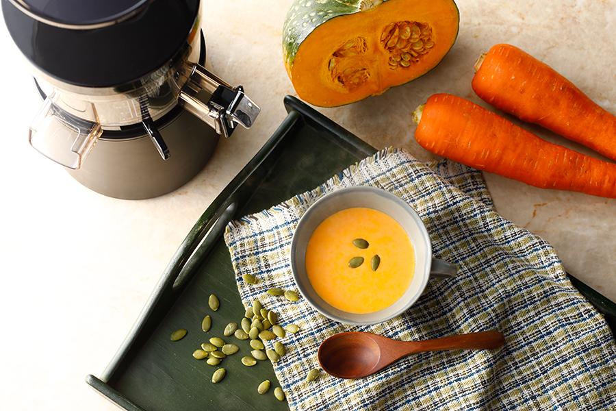 かぼちゃとにんじんのスープ